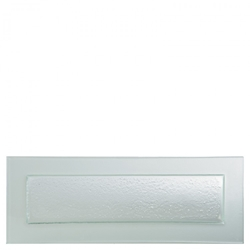 "Gobi Rect Plate Frost Edge 19.75""x7""/ 49x18cm (6 Pack)"