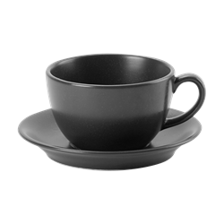 Graphite Bowl Shape  Cup 25cl/9oz (Pack of 6)