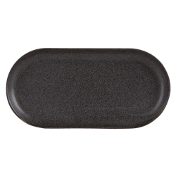 "Graphite Narrow Oval Plate 32 x 20cm / 12  1/2"" x 8"" (Pack of 6)"