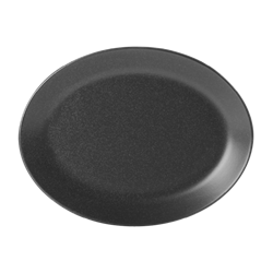 "Graphite Oval Plate 30cm/12"" (Pack of 6)"