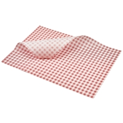 Greaseproof Paper Red Gingham Print 35 x 25cm (Each) Greaseproof, Paper, Red, Gingham, Print, 35, 25cm, Nevilles