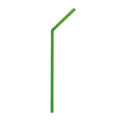 "Green Bendy Biodegradable Straws 6mm / 8"" (250 Pack) Green, Bendy, Biodegradable, Straw, 8"", 8 Inches, 6mm, bore"