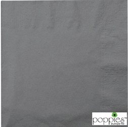 Grey 2 Ply 40cm Napkins (2000 Pack)
