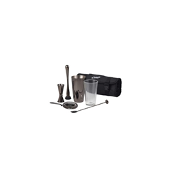 Gun Metal Cocktail Bar Kit 7pcs (Each) Gun, Metal, Cocktail, Bar, Kit, 7pcs, Nevilles