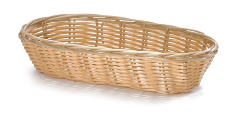 Handwoven Polypropylene Natural Look Oblong Basket 23x9x5cm (12 Pack)