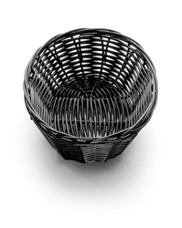 Handwoven Oval Basket, Black, 7 x 5 x 2""
