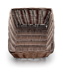 Handwoven Rectangular Basket, Black, 9 x 6 x 2.5""