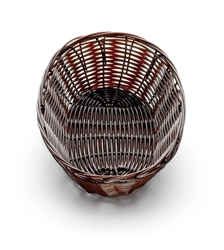 Handwoven Oval Basket, Black, 9 x 6 x 2.25""