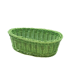 Handwoven Ridal Oval Basket, Green, 9.25 x 6.25 x 3.25""