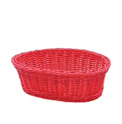 Handwoven Ridal Oval Basket, Red, 9.25 x 6.25 x 3.25""