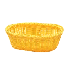 Handwoven Ridal Oval Basket, Yellow, 9.25 x 6.25 x 3.25""