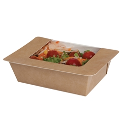 Heat-seal Window Salad Pack - kraft (250 Pack)