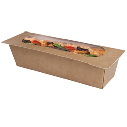 Heat-seal baguette box - kraft (400 Pack)