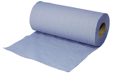 Hygiene Roll 2 Ply Blue Recycled 25cm x 40m 100 sheets per roll