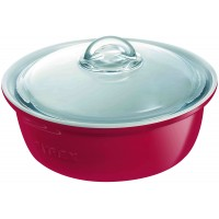 Impressions Round Casserole Red   2.5L (2 Pack) Impressions, Round, Casserole, Red,2.5L