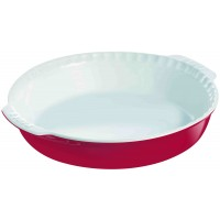 Impressions Round Pie Dish With Handles Red  26cm (4.7cm D) (6 Pack) Impressions, Round, Pie, Dish, With, Handles, Red, 26cm, (4.7cm, D)