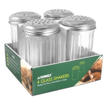Large Glass Shakers 4 Pack