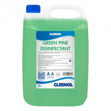 Green Pine Disinfectant - 5 Litres Green, Pine, Disinfectant, Cleenol