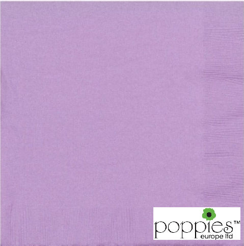 Lilac 2 Ply 40cm Napkins (2000 Pack)