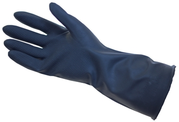 Long Sleeve Black Heavy Duty Rubber Gloves Med/LRG