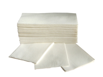 Luxury Airlaid White 8-Fold Napkin / Hand Towel