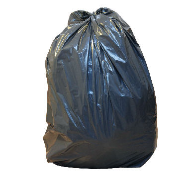 Medium Duty 10kg Black Sacks 18x29x39