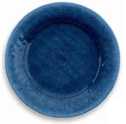 Potters Reactive Glaze Dinner Plate Blue 10.5x10.5x0.8? (6 Pack)