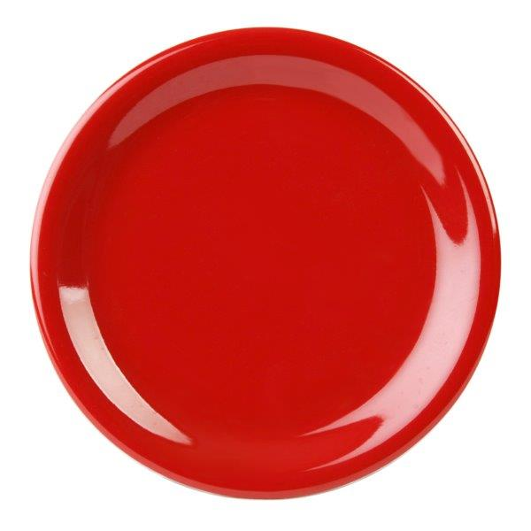 Narrow Rim Plate 9? / 230mm, Pure Red