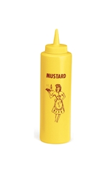 Nostalgia Squeeze Bottle Dispenser 355ml (12oz) Mustard