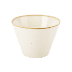 "Oatmeal Conic Bowl 9cm/3.5"" 20cl/7oz (Pack of 6)"