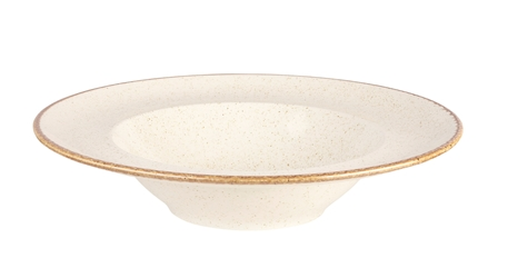 "Oatmeal Pasta Plate 26cm (10"") (Pack of 6)"