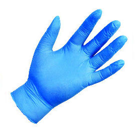 Blue Nitrile Gloves - Large (100)