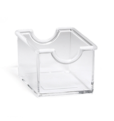 Packet Holder, Plastic, Clear, 3.5 x 2.5 x 2""