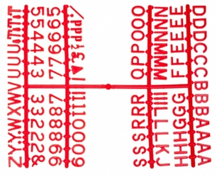 Peg Letter Set Red 1 1/4 Inch (Each) Peg, Letter, Set, Red, 1, 1/4, Inch, Beaumont