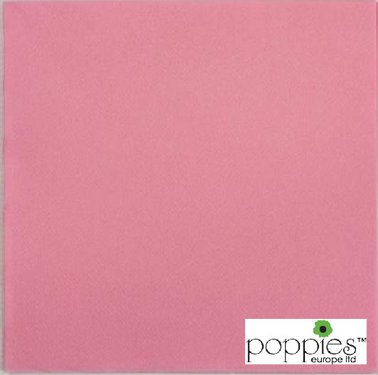 Pink 2 Ply 40cm Napkins (2000 Pack)