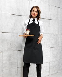 Polyester Coton Bib Apron - with Pocket