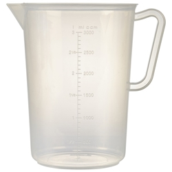 Polypropylene Measuring Jug 3L (Each) Polypropylene, Measuring, Jug, 3L, Nevilles