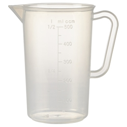Polypropylene Measuring Jug 500ml (Each) Polypropylene, Measuring, Jug, 500ml, Nevilles