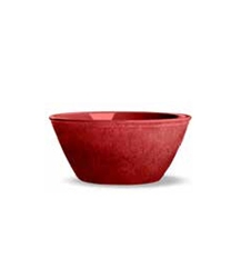 Potters Reactive Glaze Bowl Red 6.1x6.1x6.1in (6 Pack)