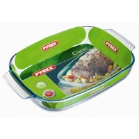 Pyrex Rectangular Roaster E/Grip    39 x 25cm (6 Pack) Pyrex, Rectangular, Roaster, EGrip 39, x, 25cm