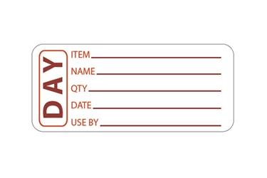 Red Day Labels - 50mm x 65mm (x500)