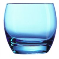 Salto Ice Blue Old Fashioned Tumbler 11.3oz  (24 Pack) Salto, Ice, Blue, Old, Fashioned, Tumbler, 11.3oz,
