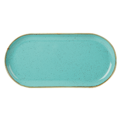 "Sea Spray Narrow Oval Plate 32x20cm/12.5x8"" (Pack of 6)"