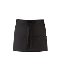 Short Black 3 pocket apron