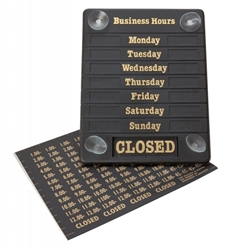Sign Business Hours (Each) Sign, Business, Hours, Beaumont