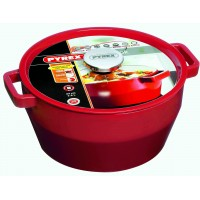 Slow Cook Round Casserole Red  24cm (1 Pack) Slow, Cook, Round, Casserole, Red, 24cm