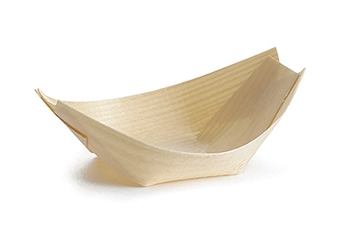 "Small Disposable Wood Boat, 3.5 x 2"" (50 per Pack)"