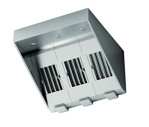 SmartVent Modular Canopy Extraction Ventilation System (700mm x 1200mm x 1200mm) With Right Fan Vertically Mounted