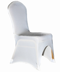 Spandex Lycra Banqueting Chair Covers - Ivory (5 Pack)