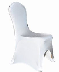 Spandex Lycra Banqueting Chair Covers - White (5 Pack)